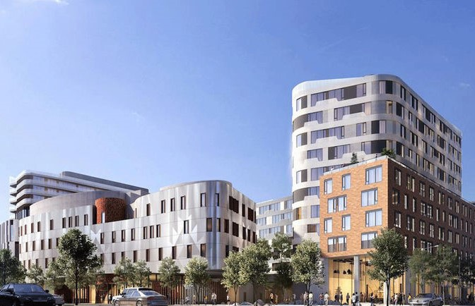 Northeast View of Canary Condos 5 Early Renderings 11 v98